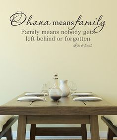 Look what I found on #zulily! Black 'Ohana Means Family' Wall Quotes™ Decal #zulilyfinds