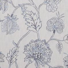 Monceau Fabric from Marvic Cote Jardin Collection. A large scale floral curtain fabric featuring an embroidered Jacobean tree-of-life design, woven in powder blue, grey and indigo on a rustic look cotton ground. Curtains For Grey Walls, Neutral Curtains, Boho Curtains, Purple Curtains, Luxury Curtains, Cheap Curtains, Drop Cloth Curtains, Burlap Curtains, Floral Curtains