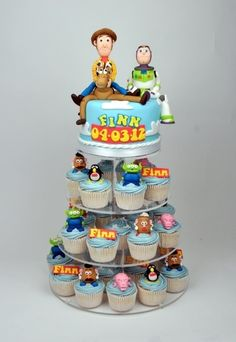 Toy Story Cake This cake was actually made for a baptism but I have included it . - Toy Story Cake This cake was actually made for a baptism but I have included it in the birthday cak - Toy Story Birthday Cake, Woody Birthday, 4th Birthday Cakes, 2nd Birthday, Birthday Ideas, Bolo Toy Story, Toy Story Baby, Toy Story Theme, Festa Toy Store
