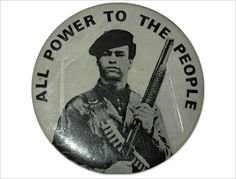All Power To The People - original Black Panthers button from the late 1960′s