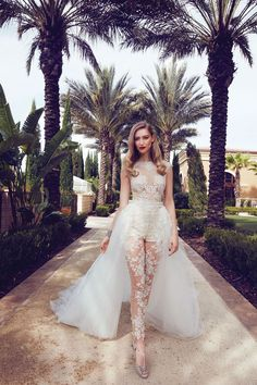 7 Wedding Dress Trends to Look Forward To: Wedding Pants Wedding Dress Trends, Dream Wedding Dresses, Designer Wedding Dresses, Wedding Attire, Bridal Dresses, Prom Dresses, Glamorous Wedding Dresses, Wedding Dresses With Bling, Wedding Bells