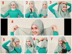 Cara Memakai Hijab Segi Empat Modern Terbaru