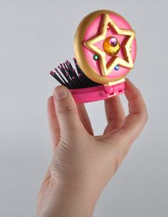 Sailor Moon Crystal Power compact with mirror and brush.. $10.00, via Etsy. Adorable! GIMME!!!