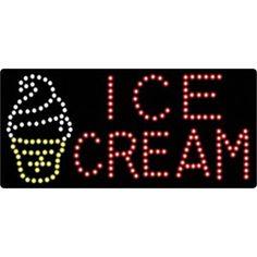 """Affordable LED  Animated LED Sign  """"ICE CREAM"""" led sign generator"""