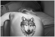 Creativity of Designing the Wolf Tattoo Designs: Wolf Head Tattoo Designs For Girl On Back ~ Tattoo Design Inspiration