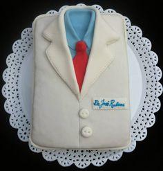 Bolo Doutor Bolo Jaleco Doctor Cake Pasta Americana