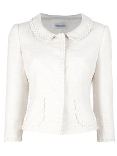 Philosophy di Alberta Ferretti ivory tweed jacket. Click for more details