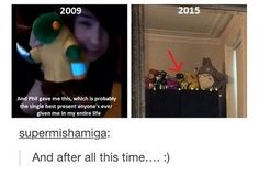 What I find really adorable is the fact that Dan has so many plush toys, like, dude, can you get any cuter?