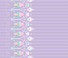 ice-cream-dream-lavender fabric by frostedfleurdelis on Spoonflower - custom fabric