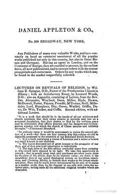 Appleton catalog from The Anatomy of Drunkenness - Robert Macnish (1835)