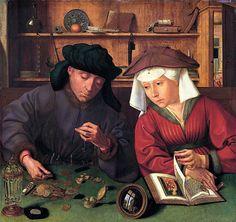 Metsys, le Changeur et sa femme  Quentin Metsys, le Changeur et sa femme (ou le Prêteur), 1514. Tempera et huile sur panneau de bois, 71 × 68 cm. Département des peintures, musée du Louvre, Paris