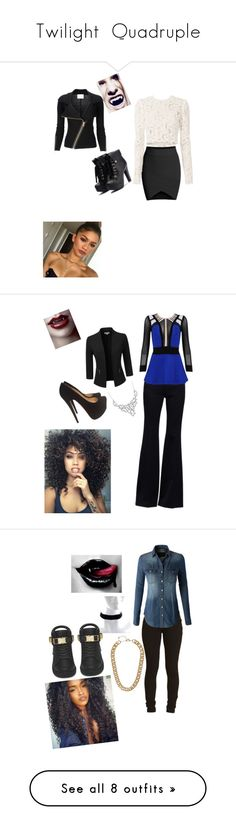 """""""Twilight  Quadruple"""" by alexys0612 ❤ liked on Polyvore featuring A.L.C., Doublju, Alexander McQueen, Posh Girl, Christian Louboutin, Luxiro, LE3NO, BUSCEMI, H&M and Dee Berkley"""