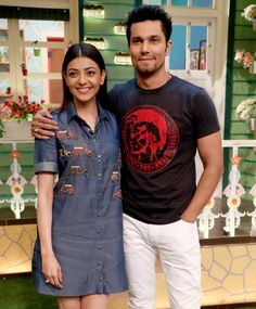 Bollywood actors Randeep Hooda and Kajal Aggarwal had a blast shooting for The Kapil Sharma Show while promoting their upcoming film Do Lafzon Ki Kahani in Mumbai. Check out all the fun from the sets here Bollywood Stars, Bollywood Fashion, Couple Style, My Style, Randeep Hooda, Kapil Sharma, Fashion Couple, Cute Couples, Style Icons