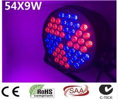 2017 ultimas luces LED de <font><b>diseno</b></font> 54X9W RGB 3in luz ultravioleta LED triangular molino de viento tres lamparas LED brillantes