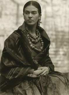 Frida Kahlo at 23 years old, 1930, Photo by Edward Weston.
