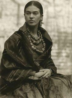 Frida Kahlo at 23 years old, 1930, Photo by Edward Weston.