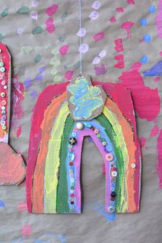 Easy Art Projects, Craft Projects For Kids, Diy For Kids, Craft Ideas, Rainbow Crafts, Rainbow Art, Toddler Art, Toddler Crafts, Fun Crafts