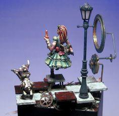 Steampunk Alice in Wonderland Figurine