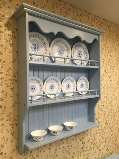 Shipping Furniture To Canada Code: 5502555922 Shabby Chic Shelves, Shabby Chic Kitchen, Home Decor Kitchen, Shabby Chic Decor, Country Kitchen, Kitchen Furniture, Diy Home Decor, Plate Rack Wall, Plate Racks