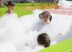 Kids ran the course first, which featured a soapy foam gauntlet during the Barbara Cook Foundation's 6th annual Bill Bottino Mud Run For Cancer held  at the New Jersey Motorsports Park Saturday September 21, 2013. - Staff photo/Cody Glenn