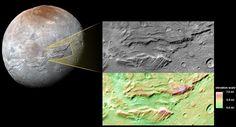 Plutone e Caronte, non smettono di riservare sorprese. Le ultime immagini inviate da New Horizons lasciano spazio all'ipotesi che la luna del pianeta nano