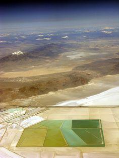 Brine ponds outside Wendover, Utah