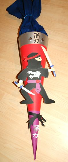 Ninja - Schultüte Large cornet of cardboard filled with sweets and little presents given to children in Germany on their first day at school!