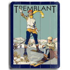 Found it at Wayfair.ca - Tremblant Vintage Advertisement Plaque