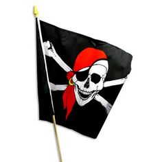 Piratenfahne - Flagge hissen nicht nur auf See, ca. 45x30cm, für kleine Freibeuter €1,99