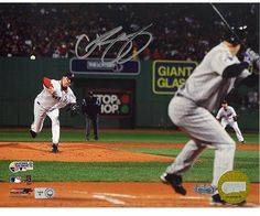 Steiner Sports Curt Schilling Autographed 2007 WS Game 2 Photograph - Boston Red Sox