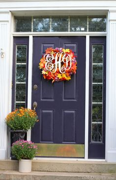 A monogram wreath for Fall | In My Own Style