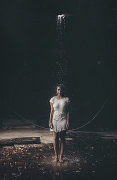 floor, wet, leaves, concrete, waterfall, soaking, cool (The Leak by Lissy Elle Laricchia, via Flickr)