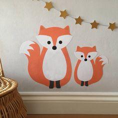 fox wall sticker by chameleon wall art | notonthehighstreet.com