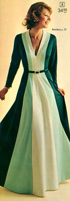 Long Knit Dress from a 1975 catalog