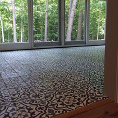 Cement Tile Shop - Encaustic Cement Tile Amalia Black