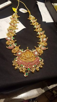 whatsapp on 9700009000 for enquiry with picture PREMRAJ SHANTILAL JAIN JEWELLERS Antique Jewellery Designs, Indian Jewellery Design, South Indian Jewellery, Bead Jewellery, Latest Jewellery, Gold Jewelry, Beaded Jewelry, Jewelry Design, Antique Jewelry