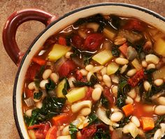 Portugese White Bean and Kale Soup recipe - maybe some day... when I can eat tomatoes again.