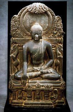 The Buddha triumphing over Mara Place of Origin: India, probably Kurkihar, Bihar…