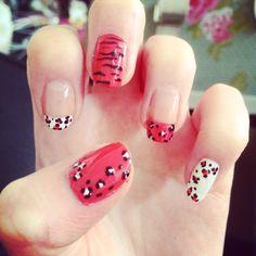 Animal print nails.