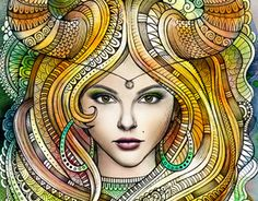 "Zodiac illustration ""TAURUS"" by balabolka, via Behance"