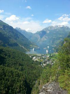 Summer in Norway, Geiranger fjorden,