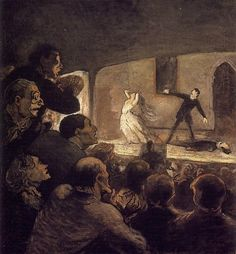 At the Theater (The Melodrama) by Honore Daumier c. 1860-64