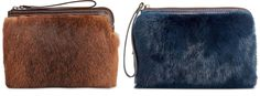 PATRICIA NASH $129 Eclipse Fox Fur Cassini Brown or Blue Wristlet Clutch Bag | Clothing, Shoes & Accessories, Women's Handbags & Bags, Handbags & Purses | eBay!