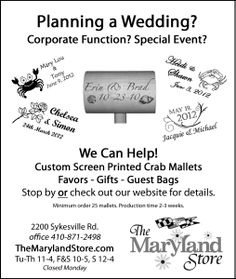 ... Weddings on Pinterest Maryland, Wedding gift bags and Black eyed