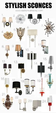 25 Stylish Sconces for your home.
