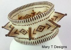 Bailey -  A Beadwoven Bangle Bracelet by MaryTDesigns on Etsy