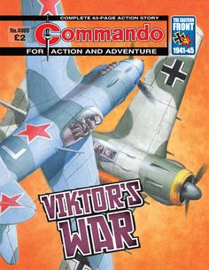 Commando: For Action and Adventure #4865. - Viktor's War (Issue)A proud Red Air Force pilot, Lieutenant Viktor Petrofsky flew his Yak-9 fighter above the skies of the Eastern Front, facing-off against the Luftwaffe and their deadly Focke-Wulf Fw190 aircraft.  However, soon disillusioned by his squadron's harsh treatment at the hands of their feared NKVD political officers, and then shot down by the Germans, Viktor's allegiances were thrown into serious doubt.  16