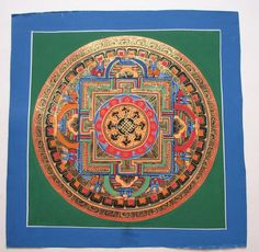 Currently at the #Catawiki auctions: An original hand painted Mandala Thangka painting - Nepal - early 21st Centur...