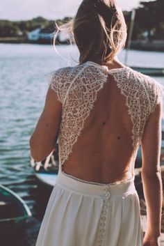 Robe de mariée dos nu Lorafolk