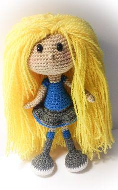 BIG Rosie Doll Crochet Amigurumi Pattern by Tatianapinkcrochet ♡